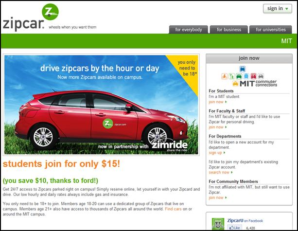 Ford's Partnership with Zipcar