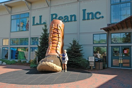 LL Bean's Headquarters Store in Freeport, Maine