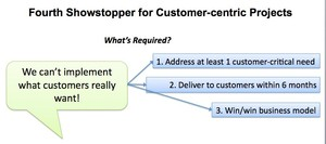 Fourth Showstopper for Customer-Centric Projects