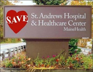 Save St. Andrews Hospital sign