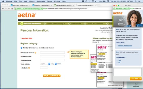 Ask Ann Virtual Agent at Aetna