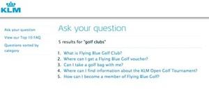 """klm.com """"golf clubs"""""""