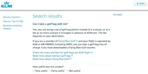 "klm.com ""Can I take a golf bag with me"""
