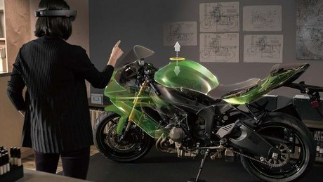 Hololens designing Motorcycle