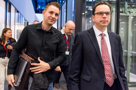 Max Schrems and his lawyer