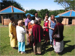Patty Seybold with other members of the African Rural University Council.