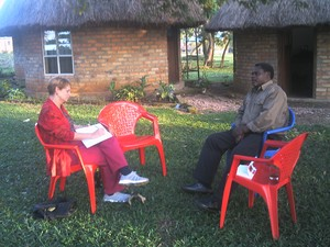 Patty Seybold interviewing Mwalimu Musheshe, the founder of URDT and the African Rural University