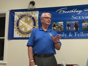 Shawn Lewin speaking at Rotary