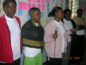 A team of ARU students demonstrating their ability to lead Customer Scenario Mapping workshops in 2007.
