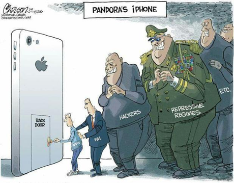iphone back door cartoon