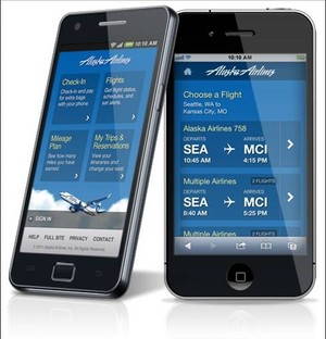 Alaska Airlines' Mobile Apps