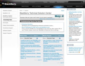 Knova on the Blackberry Technical Solution Center