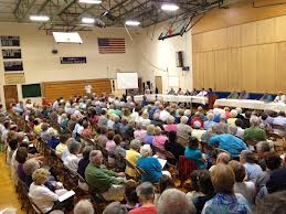 Town Meeting of 4 Towns on Boothbay Peninsula