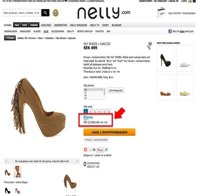 skor online klarna