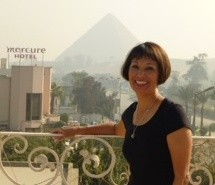 Sylvia Asbury in Egypt (before her iPhone/voice mail fiasco).