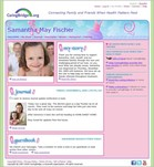 Samantha May Fischer's own website on CaringBridge