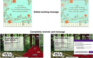 Customizing a Greeting Card on Hallmark.com