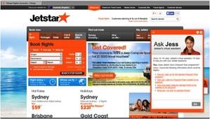 Jess, Jetstar Airlines Nina Web virtual agent